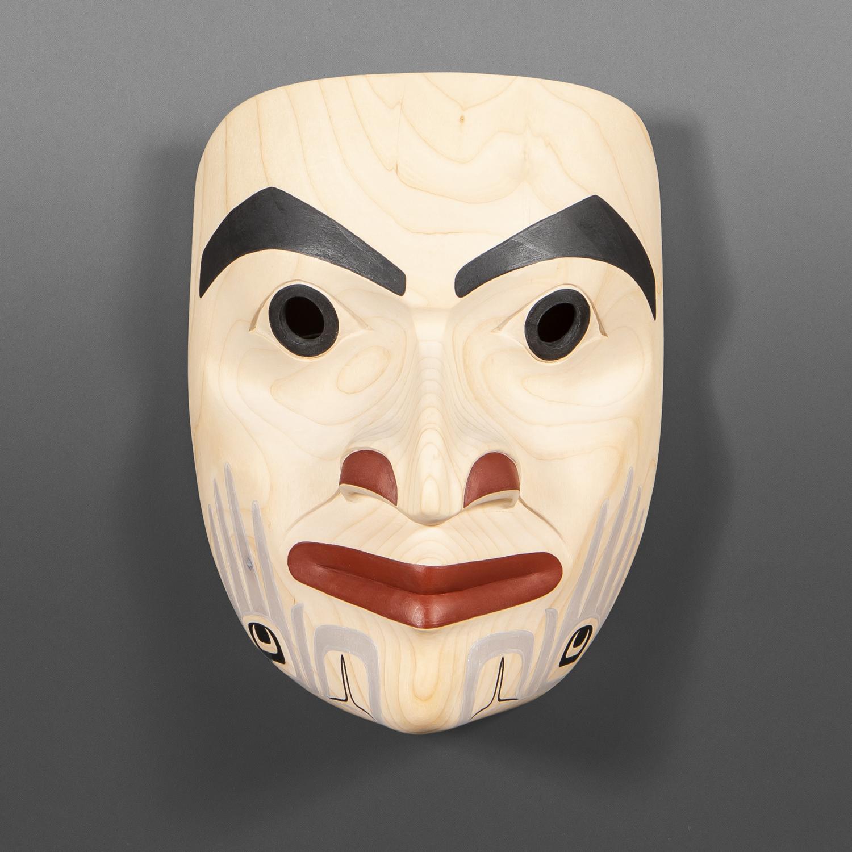 "The Timeless Healer Dylan Sanidad Tsimshian Alder,  paint 10"" x 7"" x 5"" $2000"