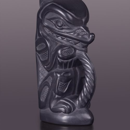 Family Connection argillite wolf lionel samuels native art