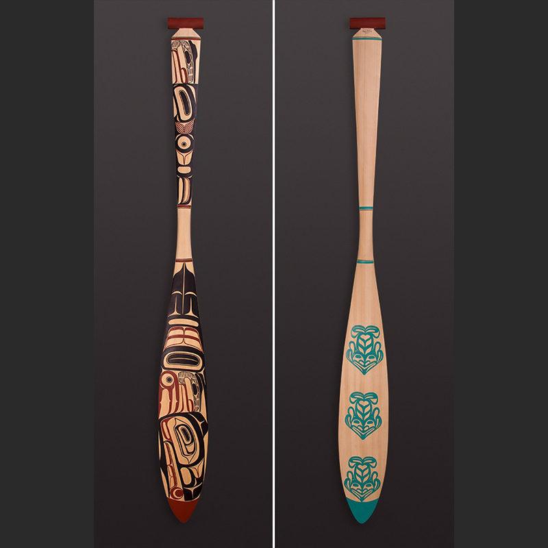 Raven paddle David Boxley - Tsimshian _sq