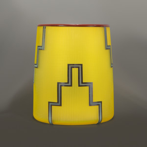 Preston Singletary Sun Yellow Glass Basket