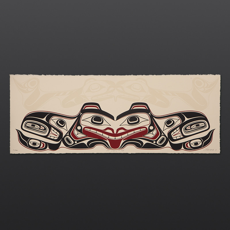 "Bear Stepping Into Itself Cori Savard Haida limited edition serigraph 29 1⁄2"" W x 10 1⁄2"" H $200"