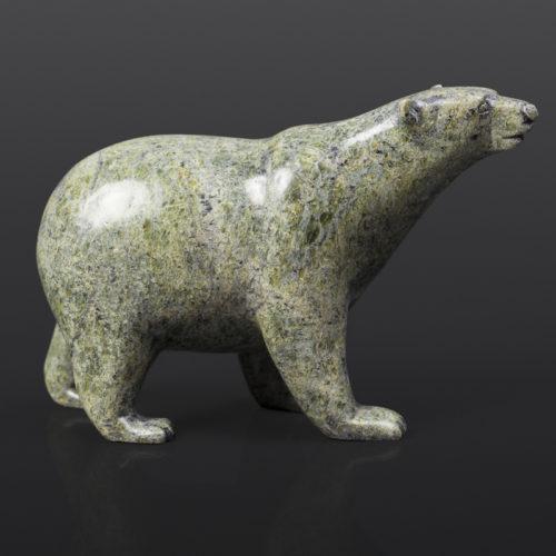 "Polar Bear (13752) Timothy Pii Inuit Serpentine 6½"" x 2½"" x 4"" $495"