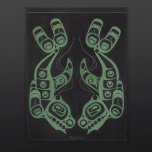 "Blackfish Shawn Aster Tsimshian Acrylic on canvas 24"" x 18"" $1200"