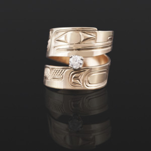 Raven Ring Bill Bedard Haida 14k gold, .3 diamond $1600