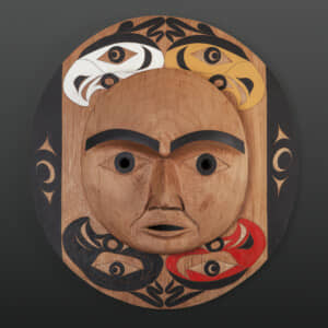 "Four Directions Tim Paul Nuu-Chah-Nulth Red cedar, paint 23"" x 21"" x 5"" $4800"