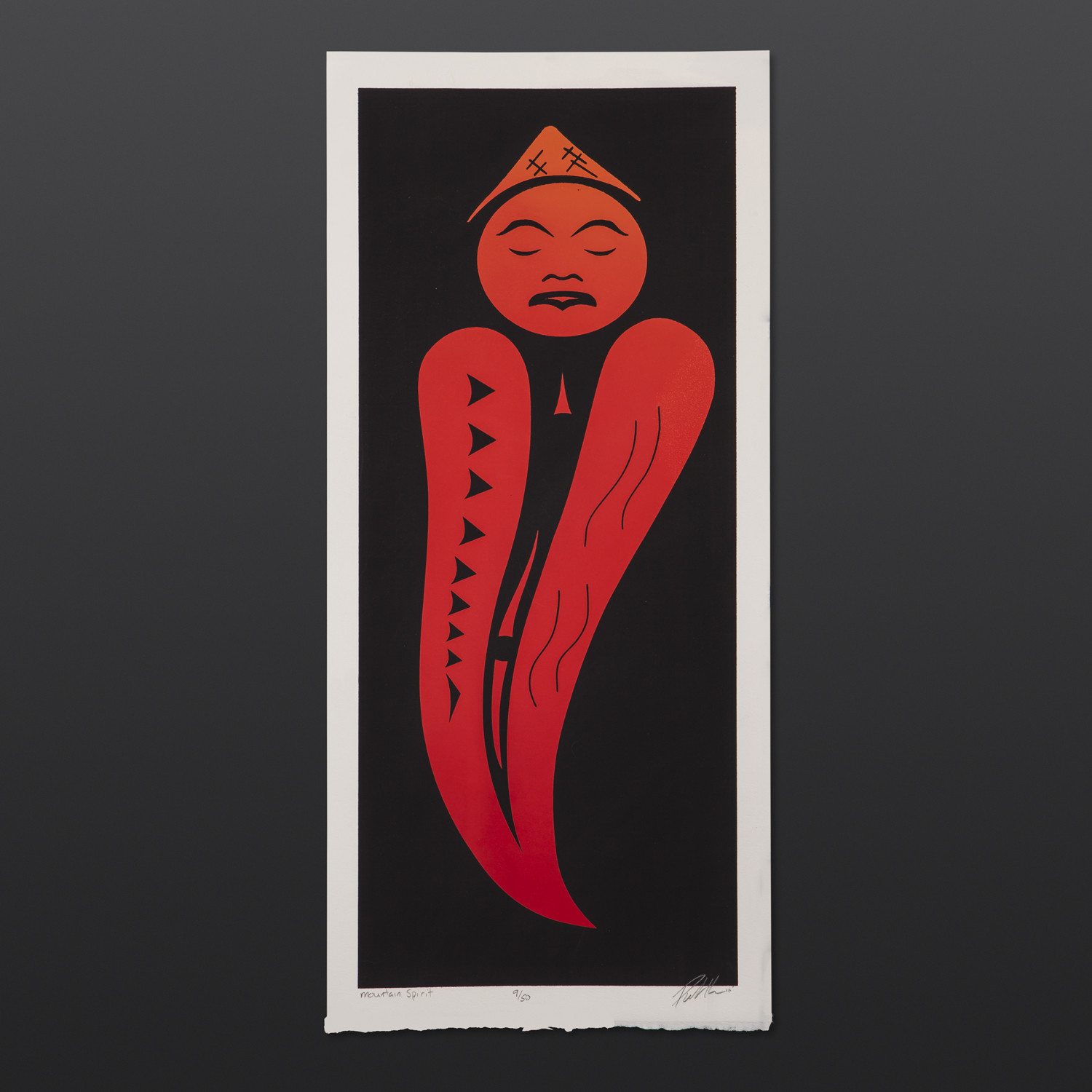 Mountain Spirit Peter Boome Coast Salish Limited Edition Serigraph $200