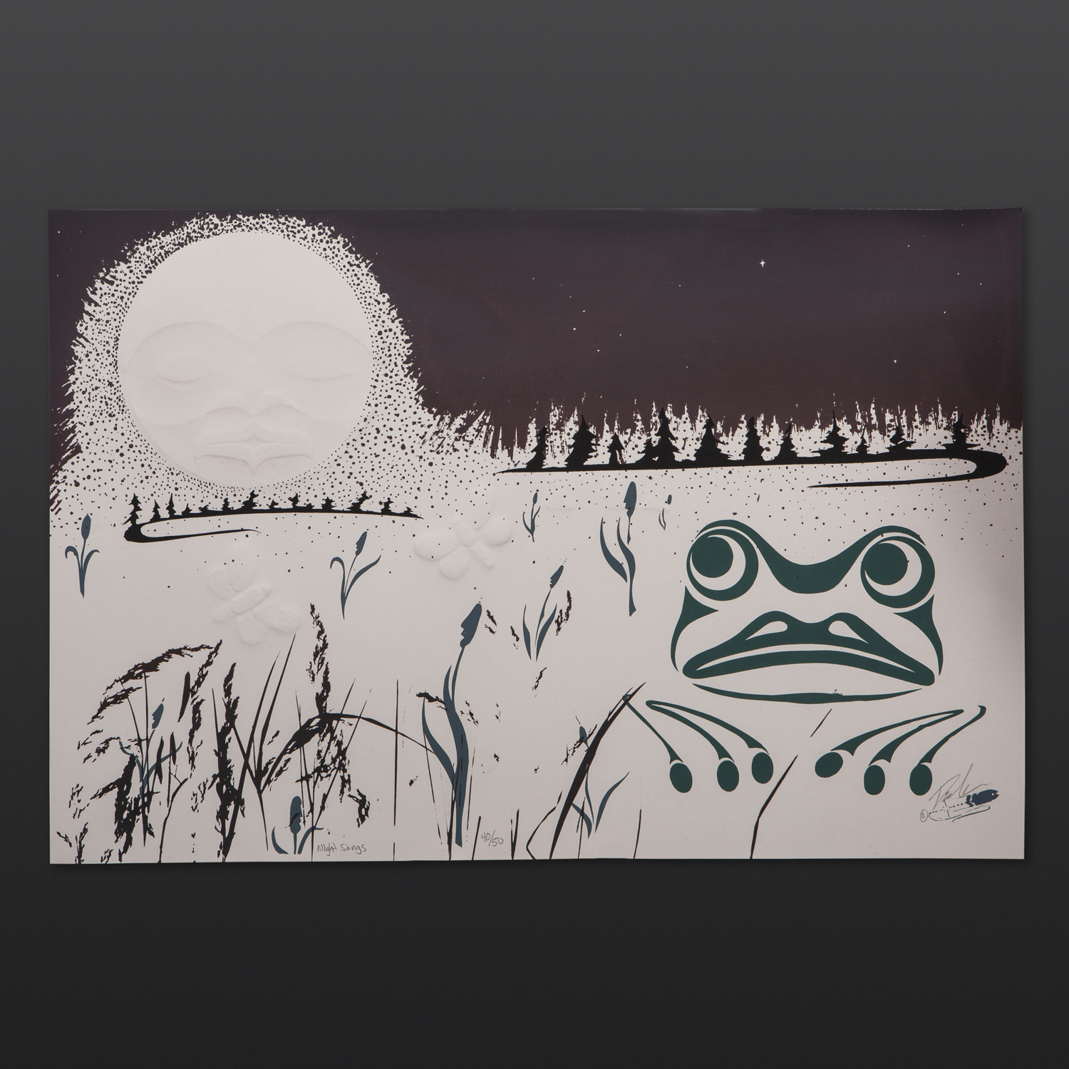 "Night Songs Peter Boome Coast Salish Limited Edition Serigraph 15"" x 22"" $250"