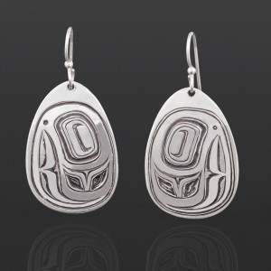 Trout Head Earrings Joe Wilson Kwakwaka'wakw Silver $295