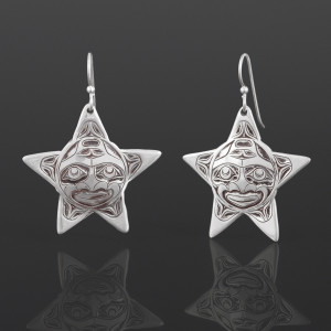 Star Earrings Joe Wilson Kwakwaka'wakw Silver $250