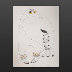 Piqatigiik-BFF Ningeokuluk Teevee Inuit Graphite, colored pencil 30 x 23