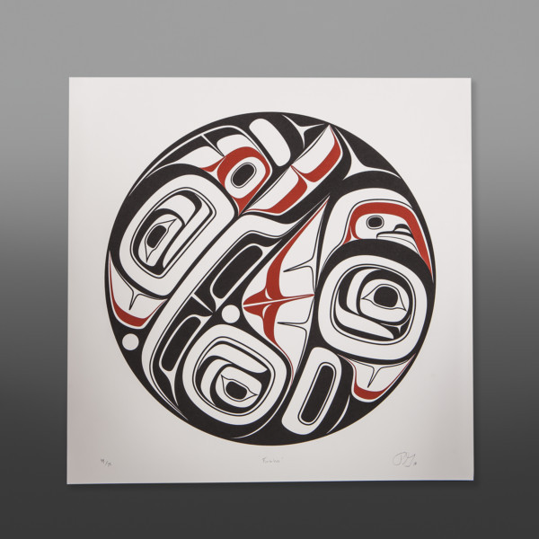 "Formless Phil Gray Tsimshian Serigraph 22"" x 22"" $275"