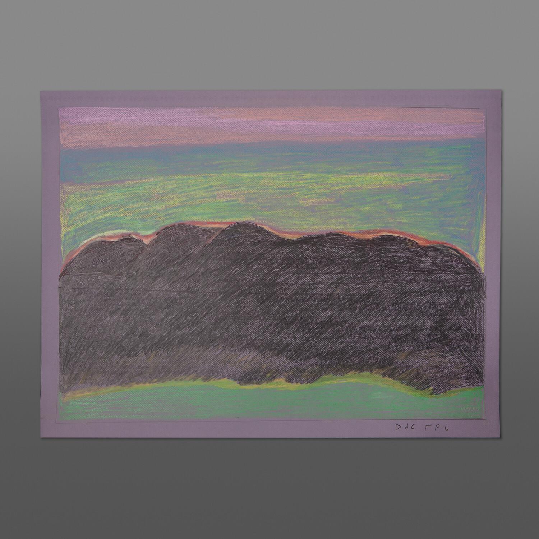 "Purple Sky Ohotaq Mikkigak Inuit Pastel, ink on paper 25½"" x 19½"" 700"