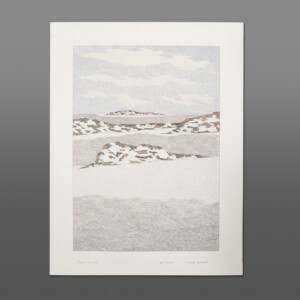 "Tundra Vista Nicotye Samayualie Inuit Color pencil, ink on paper 23"" x 30"" 900CAD"