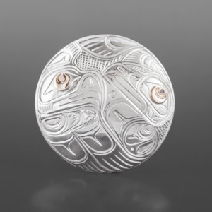 Love Birds Pendant Lloyd Wadhams Jr. Kwakwaka'wakw Silver, 14k gold $275