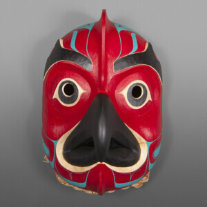 "Octopus Mask Nathan Wilson Haisla Red Cedar, Paint 12"" x 8 ½"" x 7 ½"" $3600"