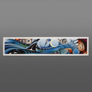 """Sea to Sky Kelly Cannell Coast Salish Giclèe, limited to 28 11"""" x 50½"""" $550"""