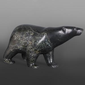 """Waling Bear Tim Pii Inuit Serpentine 10"""" x 5½"""" x 3"""" $1250"""