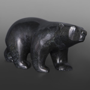 "Sniffing Bear Tony Oqotaq Inuit Serpentine 11"" x 6"" x 4"" $1250"