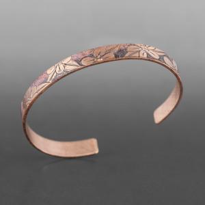 Salmonberry Bracelet Jennifer Younger Tlingit Copper