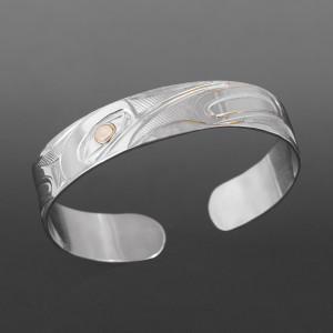 Hummingbird Bracelet Corrine Hunt Kwakwaka'wakw Silver, 14k gold $400