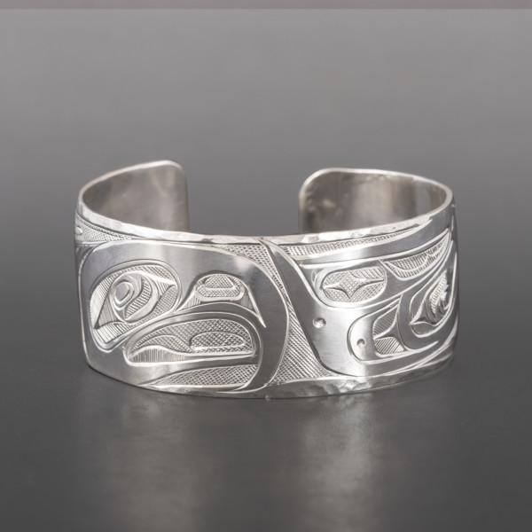 Lovebirds Bracelet Corrine Hunt Kwakwaka'wakw/Tlingit Silver $600