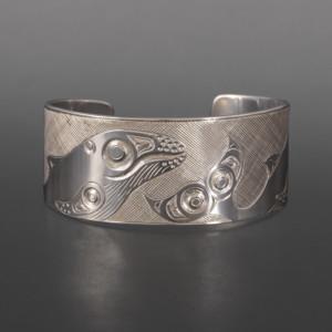 Humpback Bracelet Allen Thompson Haisla Silver $1200
