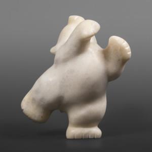 "Joyful Dancer Markusie Papigatuk Inuit Arctic marble #73 6"" x 4"" x 5"""
