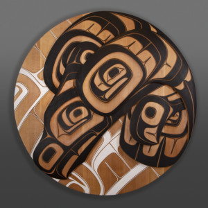 Phil Gray Tsimshian contemporary carved panel cedar thunderbird