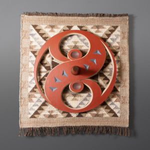 Collaboration Susan Point & Krista Point spindle whorl wool woven blanket