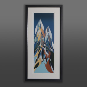 Whistler Susan Point Coast Salish print mountains wolf