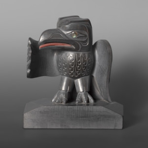 Raven Speaks Christian White Haida Argillite