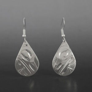 Raven Earrings Alvin Adkins Haida
