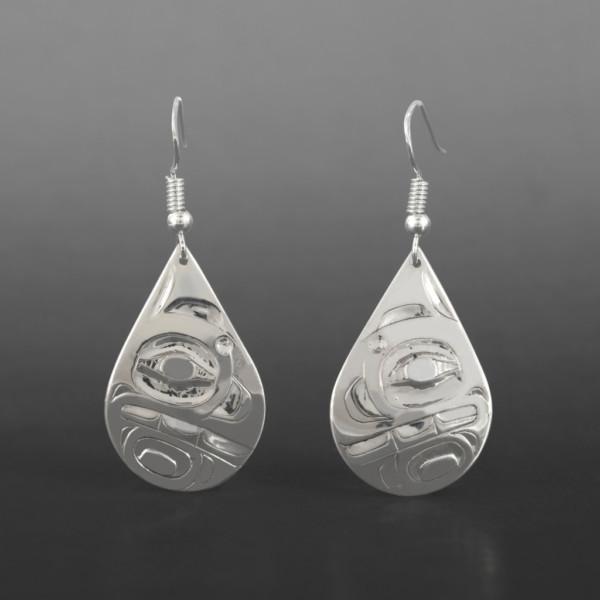 Orca Earrings Alvin Adkins Haida