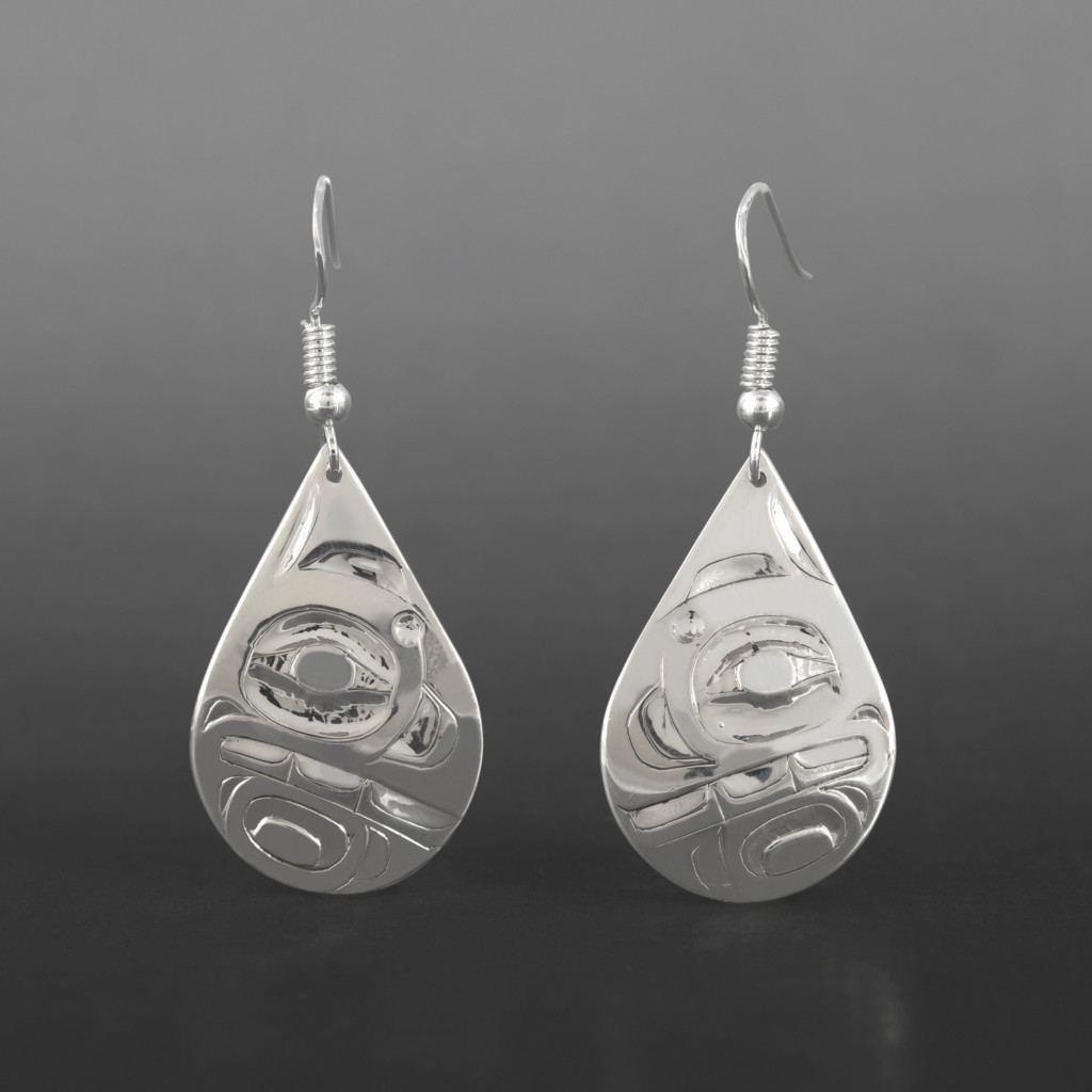 Orca Earrings Alvin Adkins Haida