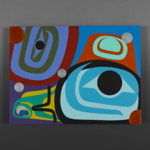 "Family Love Steve Smith - Dla'kwagila Acrylic on birch panel 24"" 18"" x 1½"" $1900"
