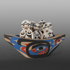 "Canoe People from the Sky Tim Paul, RCA Nuu-chah-nulth 18"" 7"" x 10"" $4500"