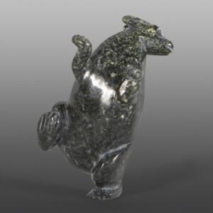 "Rabbit Pitseolak Qimirpiq Inuit Serpentine 3"" x 1½"" x 1½"" $180"
