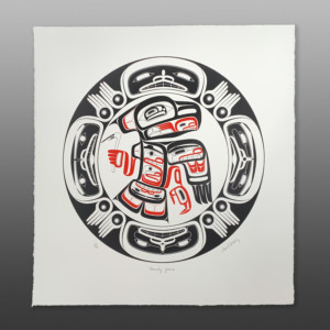 "Forty Years David A Boxley Tsimshian Serigraph, edition of 99 23"" x 22½"" $300"