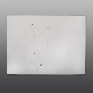 """Big Polar Bear Meeting  a Mate Ningiukulu Teevee Inuit Ink on paper 22"""" x 30 $1150"""