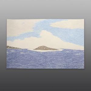 "Near Nanuqtuuq Nicotye Samayualie Inuit Color pencil, ink on paper 15"" x 23"" $450"