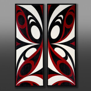 Butterfly Effect Kelly Cannell Coast Salish Acrylic on canvas painting