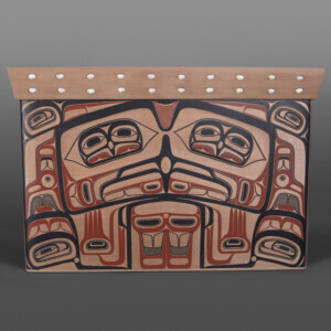 "Eagle Chief's Chest David Boxley Tsimshian Red cedar, paint 23"" x 18½"" x 34½"" $25,000"