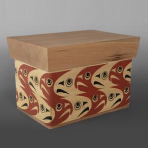 "Salmon Box Nytom Makah 13"" x 9"" x 9 $1400"