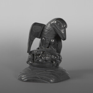 "Raven and the First Men Lionel Samuels Haida Argillite 6"" x 5½"" x 4½"" $6500"