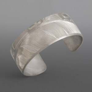 Tlingit Feather Bracelet Jennifer Younger Tlingit Silver