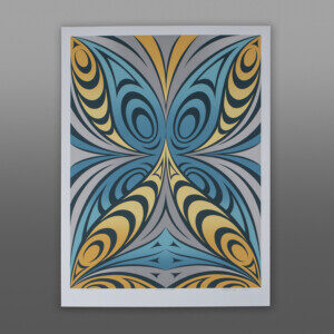 "Kaleidoscope (State I) Kelly Cannell Coast Salish Serigraph  30"" x 22"" $500"