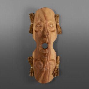 """Awaken Darren Joseph Coast Salish Red cedar, cedar bark, cord 18"""" x 7"""" x 4"""" $1800"""