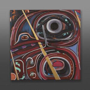"Raven's Inception Steve Smith - Dla'kwagila Oweekeno Acrylic on canvas 30"" x 30"" x 1½"" $4500"