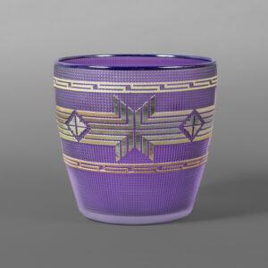 "Elderberry & Gold Basket Preston Singletary Tlingit  Blown and carved glass 9"" dia. x 9½""  $8000"