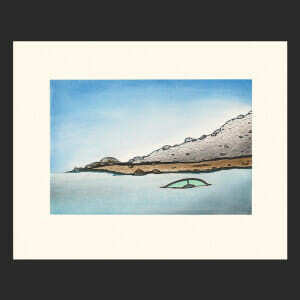 "8. Shoreline Mystery Nicotye Samayualie Inuit Etching & Aquatint Paper: Arches White Printer: Studio PM 59 x 74 cm 23 ¼""x 29"" $700 $560 Cape Dorset Print Collection  2020"